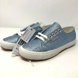 Superga 8.5  Blue Metallic Sneakers Tennis Shoes
